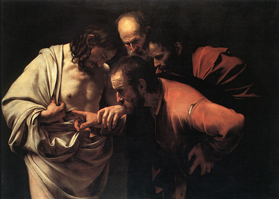 "Caravaggio's ""The Incredulity of St. Thomas"""